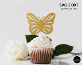 Butterfly Cake Topper, butterfly cupcake topper svg, SVG, DXF, butterfly svg cutting file, cricut, silhouette, baby shower, butterfly decor