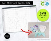 Mermaid Tail SVG cutting file, mermaid svg, mermaid tail svg, mermaid party, under the sea invitations, mermaid invitation