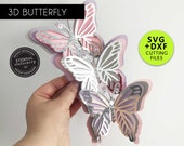 3D Butterfly SVG Template, Butterfly SVG, DXF, butterfly wall decor, butterfly, 3D butterfly nursery decor, party decor, butterfly wall art