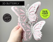 3D Butterfly Cutting File Template, Butterfly SVG, DXF, butterfly wall decor, 3D butterfly nursery decor, butterfly party decor, wall art