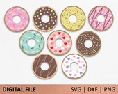 Layered Donut svg, donut with icing svg, donut with sprinkles svg, donut party, svg file for Cricut, SVG, DXF, PNG, donut clip art, confetti