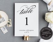 Table Number Template, Printable Table Number wedding, Elegant Table Number template, Wedding Table Numbers Template, Cassandra