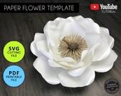 Paper Flower Template, PDF/SVG, Paper Flowers, Rose Template, Giant Paper Flower backdrop, Paper Flower Printable, Paper Flower SVG, Rose