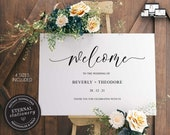 Modern Minimalist Welcome Sign Template, Wedding Welcome sign, Welcome Sign Template, Custom Wedding Sign, Printable Welcome Sign, Beverly