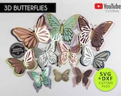 3D Butterfly Cutting File Templates, Butterfly SVG, DXF, giant 3D butterflies, butterfly die cuts, butterfly wall decor, gold 3D butterflies