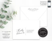 Editable A7 and A1 Envelope Addressing Template, Wedding Addressed Envelope, DIY Envelope Template for Wedding, Return Address, calligraphy