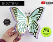 3D Giant Butterfly Cutting File Templates, Paper Butterfly SVG, DXF, butterfly die cuts, butterfly wall decor, 3D butterfly nursery decor