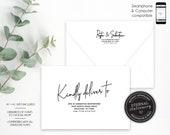 Editable A7 and A1 Envelope Addressing Template, Wedding Addressed Envelope, DIY Envelope Template for Wedding, Return Address, Peyton