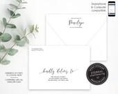 Editable A7 Envelope Addressing Template, Boy, Girl, Baptism, Christening, Addressed Envelope, Envelope Template, Return Address, Penelope