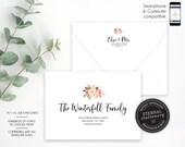 Editable A7 and A1 Envelope Addressing Template, Wedding Addressed Envelope, DIY Envelope Template for Wedding, Return Address, Elsie