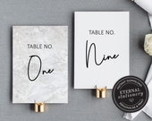 Table Number Template, Modern Marble Table Number template, Wedding Table Numbers Template, Printable Table Number wedding, Peyton