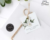 Modern Floral Gift Tag template, bonbonniere tags, wedding favour tag template, printable gift tags, bridal shower, thank you, Olivia