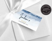 Editable Favour Tag template, baptism bonbonniere tag, bonbonniere tags, christening bonbonniere tag, gift tags, wedding favour tag, Jackson