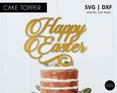 Happy Easter Cake Topper, Easter cake topper SVG, DXF, svg cutting file, easter party decorations, easter svg file, religious cake topper