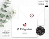 Editable A7 and A1 Envelope Addressing Template, Wedding Addressed Envelope, DIY Envelope Template for Wedding, Return Address, Charlotte