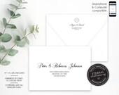 Editable A7 and A1 Envelope Addressing Template, Wedding Addressed Envelope, DIY Envelope Template for Wedding, Return Address, Alyssa