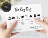 Customisable Wedding Day Timeline Template, Wedding Party Timeline, Wedding Day Schedule, Sign, Wedding Timeline, Itinerary, Bridesmaid