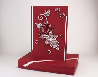 Quilled Valentine S Day Card For Her Wife Girlfriend Etsy
