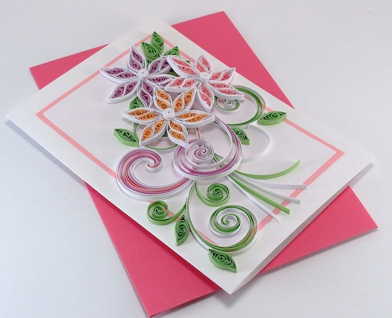 Quilling Birthday Card For Mom Girlfriend Sister Thank You