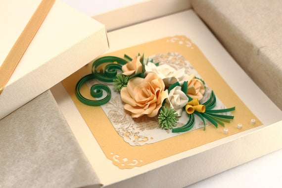 Paper Quilling Card Mothers Day Card Mom Birthday Card For Etsy