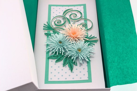 Luxury Birthday Card Beautiful Handmade Card For Mom Grandma Etsy