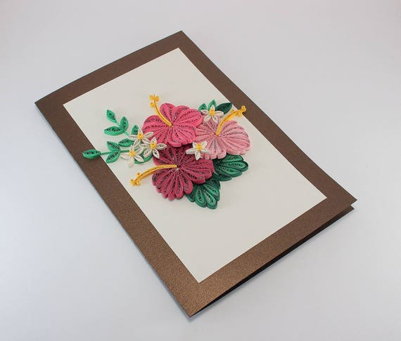 Paper Quilling Birthday Card For Mom Girlfriend Sister Etsy