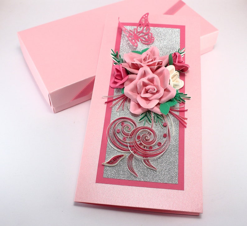 Floral Birthday Card For Girl Daughter Handmade Quilling