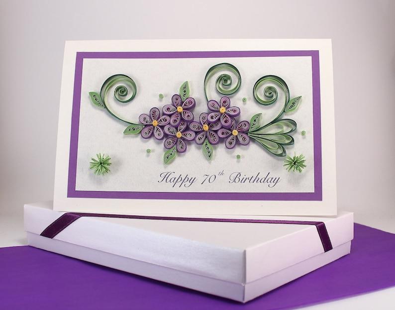 Handmade Paper Quilling card 30th 40th 50th 60th 70th 80th 90th 100th Birthday Card Mom Daughter Sister Nan Grandma 90th Birthday Card