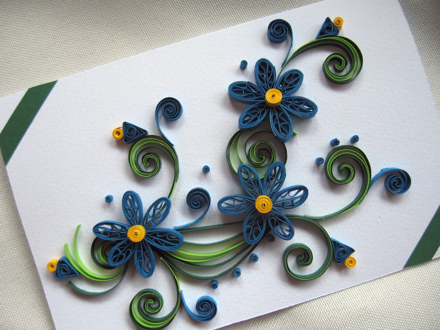 quilling greeting card handmade thank you card paper  etsy