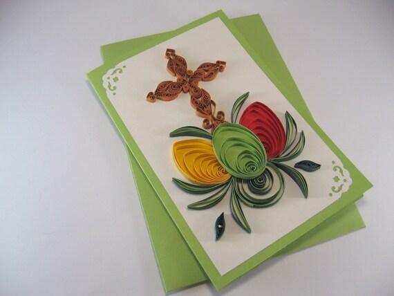 Картинки надписью, открытки в технике квиллинг на пасху