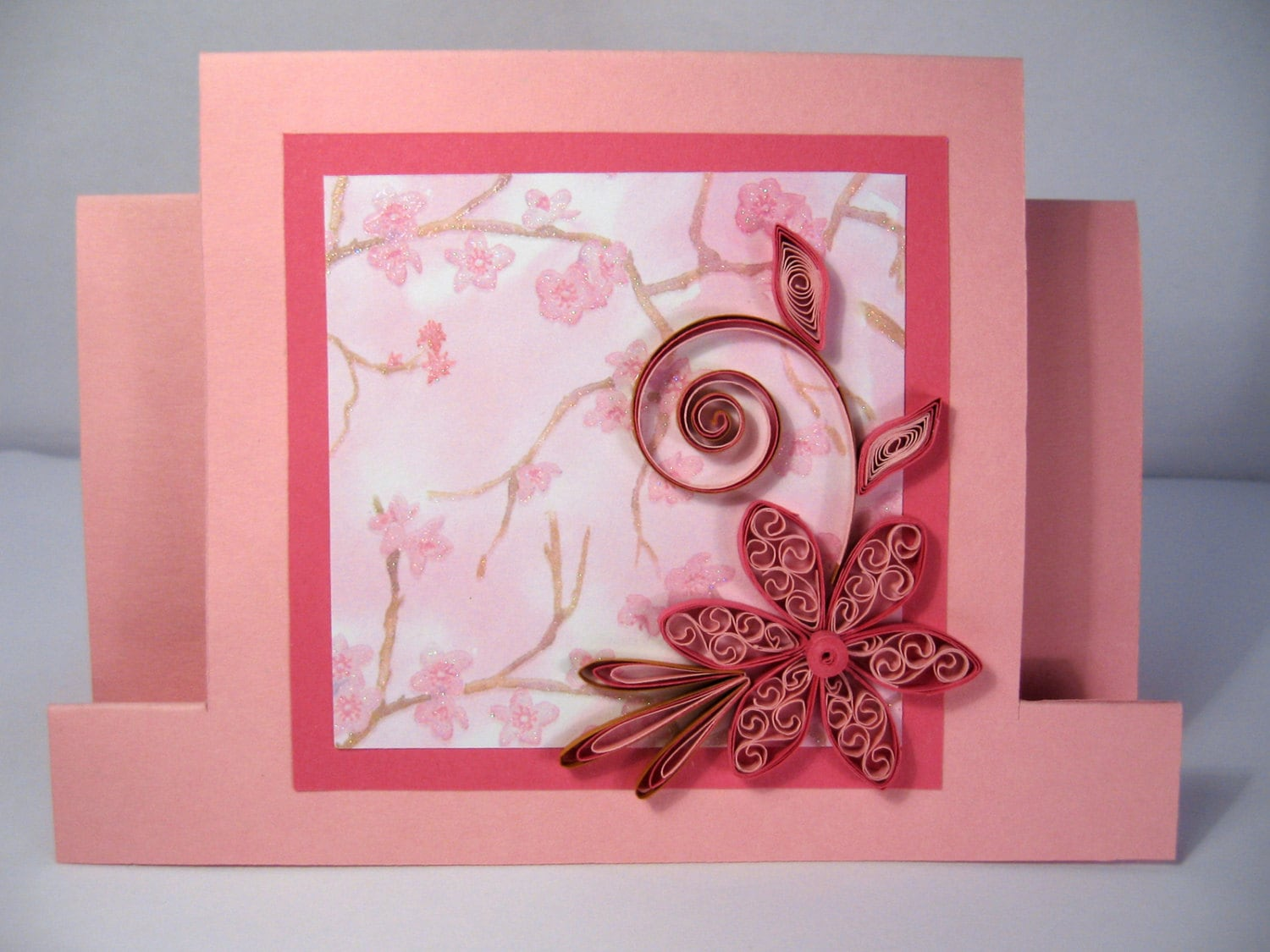 Quilled Mother\'s Day Card Handmade Paper Quilling Card