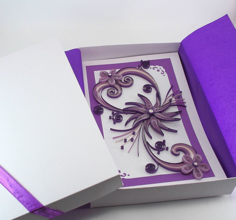 Mothers Day Card Mum Birthday Handmade Quilling For Girlfriend Mom Wife Valentines Flower Greeting Boxed