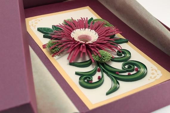 Luxury Birthday Card 60th Handmade Quilling