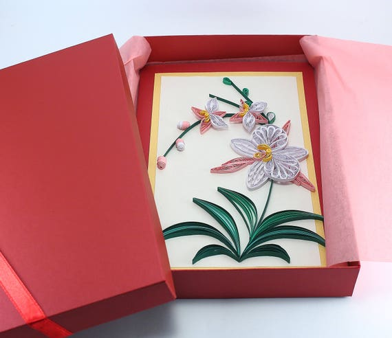Quilling Card Beautiful Birthday Card Handmade Quilling Etsy