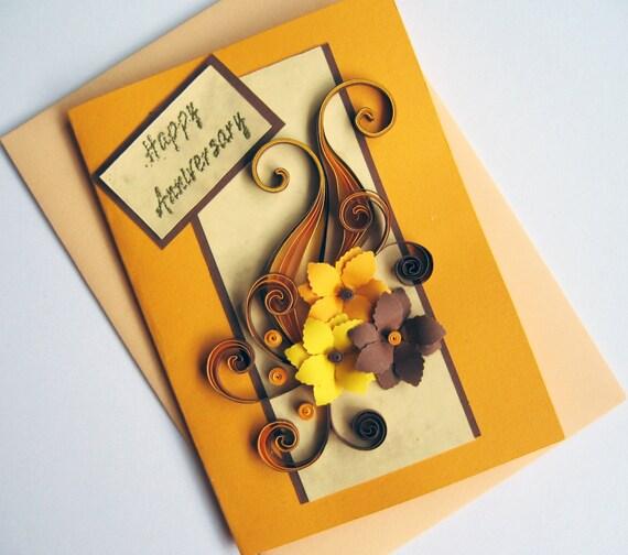 Квиллинг открытка дедушке день рождение