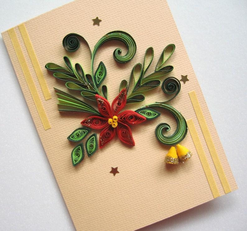 Christmas Card Handmade Holiday Card Quilling Card For Etsy