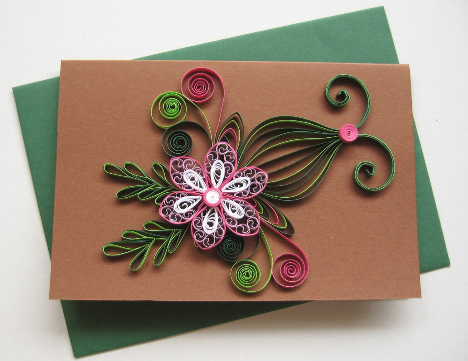 Quilled Birthday Card Handmade Paper Greeting Card Etsy