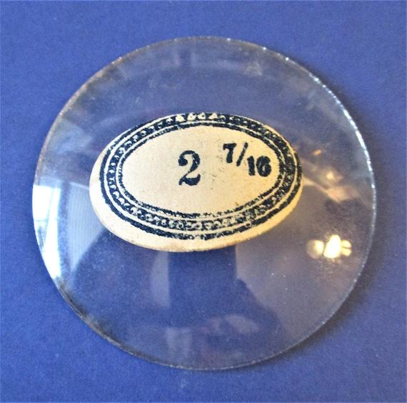 """2 7/16"""" Domed Glass for Antique & Vintage Clocks Stamped VTF Co. France Stk# 353"""