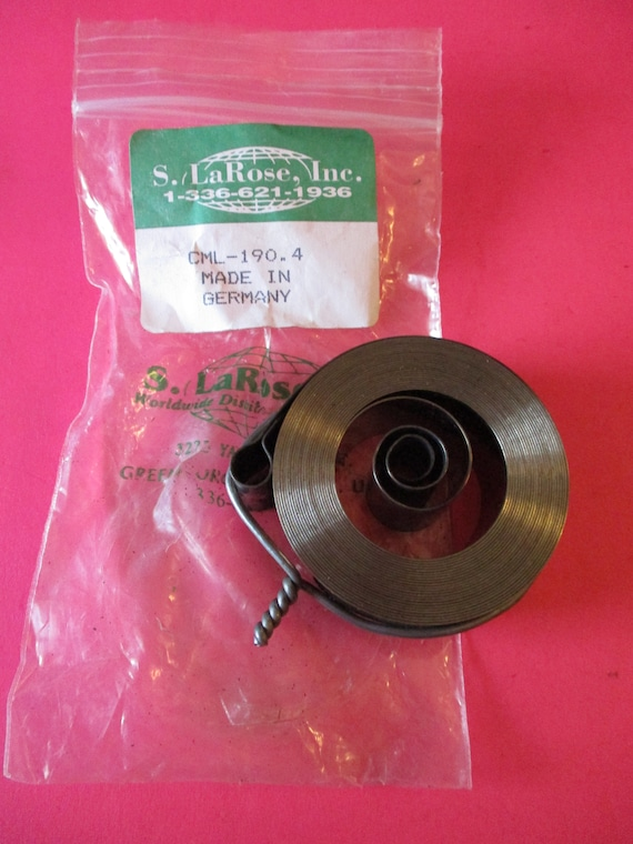1  S. LaRose Loop End Clock Mainspring for New Haven Brand Clocks - New old Stock - Part# CML-190.4  Stk# 338