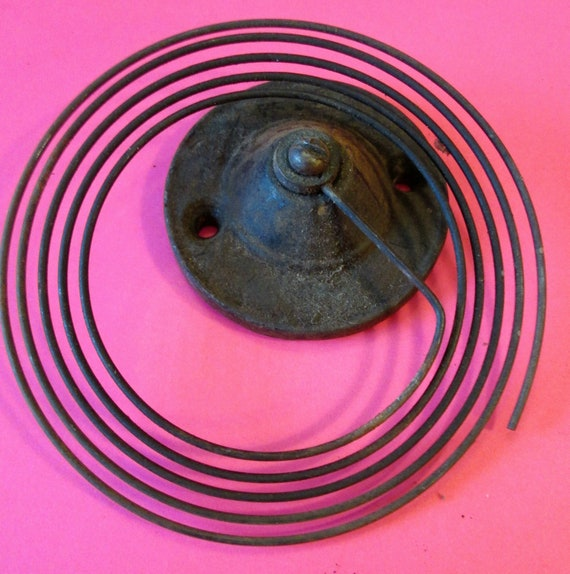 1 Old and Worn Cast Metal Mantle Clock Gong Assembly for your Clock Projects - Metalworking - Steampunk Art