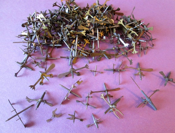 140 Assorted Antique Clock Forks for your Clock Projects, Steampunk Art, Jewelry Making and etc...
