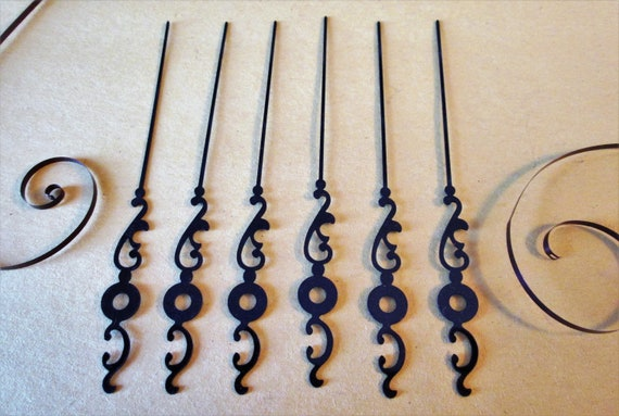 "6 Fancy Vintage 3 3/4"" Second Hands for your Clock Projects  - Jewelry Making - Steampunk Art"