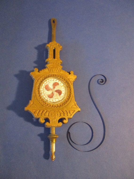 """Old Fancy Cast Metal and Steel Clock Pendulum 2.9 Ounces 6 3/4"""" For your Clock Projects - Art Stk# 103"""