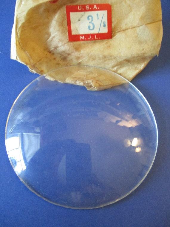 """3 1/8"""" Domed Glass for Antique & Vintage Clocks  Stk# 347"""