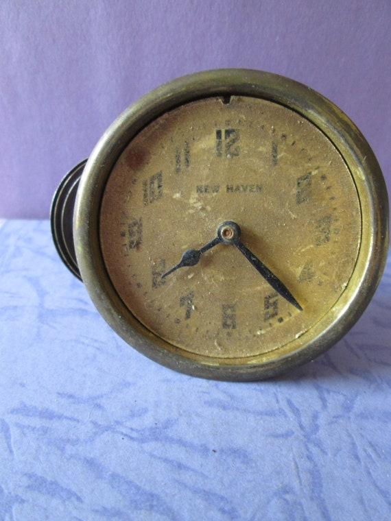 "Old and Worn Small 2 3/8"" New Haven Partial Clock for your Clock Projects, Steampunk Art and Etc... Stk# 520"