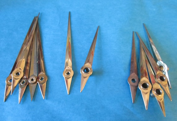 6 Pairs of Vintage Solid Brass Sword Design Clock Hands for your Clock Projects - Jewelry Making & Steampunk Art