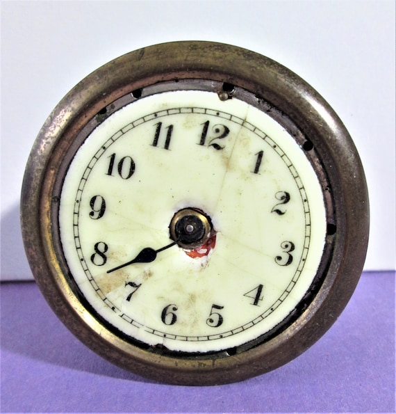 1 Old and Worn Small Antique Junghans Clock Co. Partial Clock for Repair/Parts Stock# 818