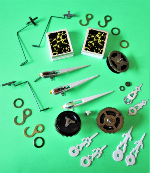 Vintage Lot of Assorted Cuckoo Clock Parts, Bellows, Birdies and Brass Hardware for your Cuckoo Projects