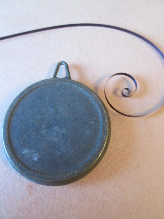 """1 Vintage 2 Ounce Mantle Clock Pendulum Bob 1 1/2"""" Wide for your Clock Projects - Steampunk Art - Metelworking"""
