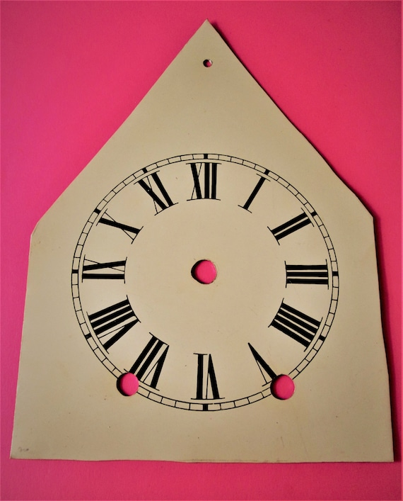 """5"""" Beige Steeple Clock Dial with Roman Numerals for your Clock Projects and Etc.. Stk #175"""